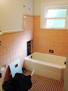 How To Cover Dated Bathroom Tile With Wainscoting For The Home