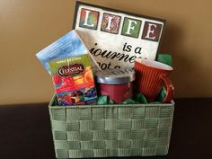Tea Lovers Basket: Signature HomeStyles Classic basket and Life insert.  Order today on my website at www.signaturehomestyles.biz/angelabryant