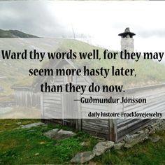 Icelandic Wisdom More @ rocklovejewelry