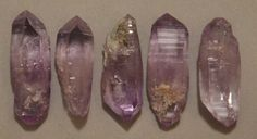 5 Double Terminated Las Vigas Amethyst Crystal Vera Cruz MX Perfect For Jewelry
