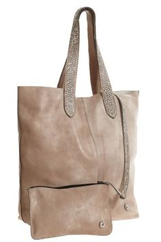 Studded Large Leather Tote | Calypso St. Barth