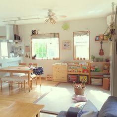 nekomusumeさんの、部屋全体,リビングのキッズスペース,子どもと暮らす,おもちゃ収納,のお部屋写真