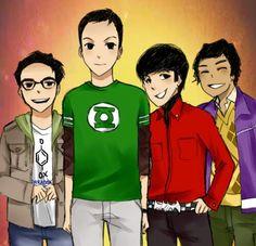illustration digital-painting painting  cartoon big bang theory tv show sheldon cooper