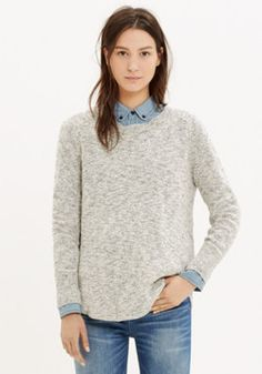 Marled Button-Back Sweater #vest #casual