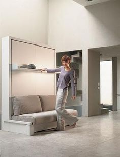 """Receive excellent ideas on """"murphy bed diy"""". They are available for you on our website. Murphy Bed Sofa, Murphy Bed Plans, Sofa Bed, Murphy-bett Ikea, Horizontal Murphy Bed, Modern Murphy Beds, Bed Wall, Decorate Your Room, Bedrooms"""