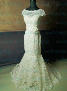 JW12135 Antique inspired watters ftited lace mermaid wedding dresses Diana
