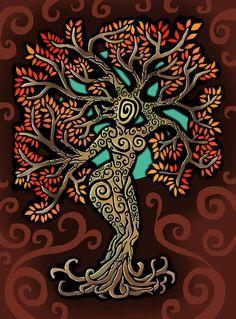 another tree Tree 2 Tree Of Life Art, Tree Art, Tree Of Life Painting, Pagan Art, Goddess Art, Celtic Art, Book Of Shadows, Mother Earth, Doodle Art