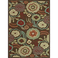 Hand-hooked Freya Brown Rug (7' x 9') | Overstock.com Shopping - Great Deals on Alexander Home 7x9 - 10x14 Rugs