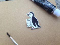 Fight Club Penguin Slide Power Animal Tyler by ElevendotdotEleven