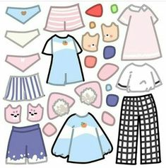 Drawing Anime Clothes, Manga Clothes, Kawaii Clothes, Kawaii Drawings, Cute Drawings, 30 Day Art Challenge, Looks Kawaii, Episode Interactive Backgrounds, Clothing Sketches