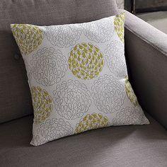 I love the Hand-Blocked Cotton Spring Bloom Pillow Cover on westelm.com