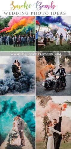 Smoke Bomb wedding photo ideas #wedding #weddingideas #weddings #weddingphotos #dpf