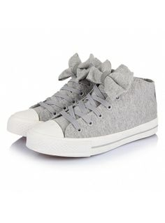 Adorable Round-toe Bowknot Canvas Shoes Stylish Plus 9529164f652d