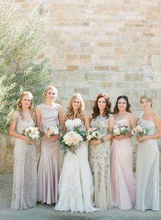 bridesmaid dresses idea; photo: Caroline Yoon Fine Art Photography