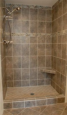 Shower Renovation The Most Useful Bathroom Shower Ideas There are almost uncountable kinds of rest r Shower Remodel, Bath Remodel, Master Shower, Master Bathroom, Bathroom Small, Bathroom Storage, Steam Bathroom, Brown Bathroom, Douche Design
