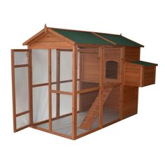 Pawhut Large Backyard Chicken Coop with Outdoor Run