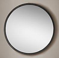 Hand-Textured Round Wrought Iron Mirror - Narrow Frame Blacksmithing, Wrought Iron, Texture, Mirror, Frame, Design, Home Decor, Blacksmith Shop, Surface Finish