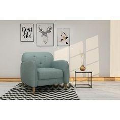 FINLANDEK Fauteuil fixe VIISTO en bois - Revêtement tissu aqua - Scandinave - L 83 x P 84 cm - Achat / Vente fauteuil FINLANDEK Fauteuil fixe aqua - Cdiscount
