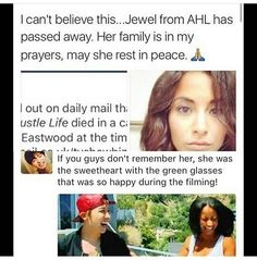 Rip Jewel it's sad because she died in 2014 and we just know it now
