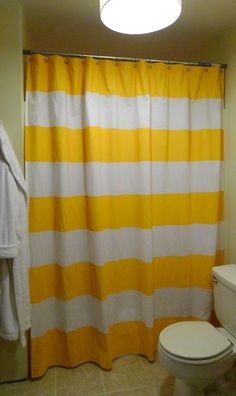 striped shower curtain diy