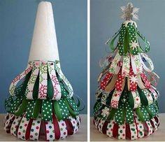 Juletræ af strimler