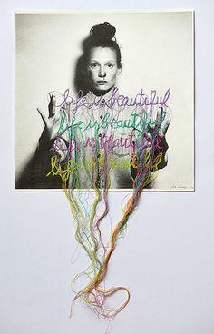 Jose Romussi, el artista chileno que realiza intrincados bordados sobre fotografías | Maple Magazine