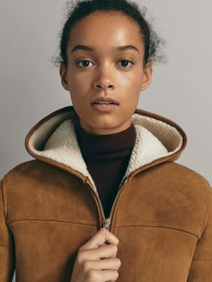 DOUBLE FACE NUBUCK JAS - Dames - Massimo Dutti Face, Spring Summer 2018, Coats And Jackets, Women, Blouse, The Face, Faces