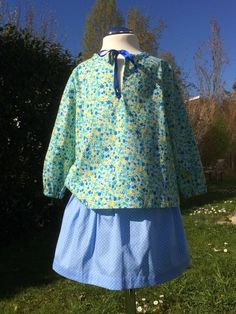 Mädchenbluse Frühlingsfrisch von Dressed by Olga Hofmann auf DaWanda.com