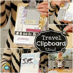 TERESA COLLINS DESIGNS: CLIPBOARD TRAVEL BOOK Create a travel themed clipboard project to take on your next trip on My Craft Channel.com #travel #DIY #mycraftchannel @TeresaCollinsDesigns