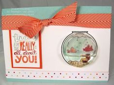 stampin up fish fishing around fishin around sweet treat cup mary