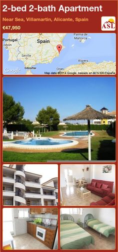 2-bed 2-bath Apartment in Near Sea, Villamartin, Alicante, Spain ►€47,950 #PropertyForSaleInSpain