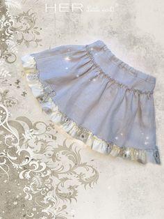 HER Little world, Patron de couture pour vêtement enfant, jupe,Espiègle