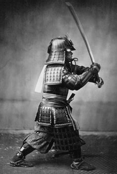 samouraï, old black and white photography