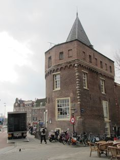 the oldest tower (anno in Amsterdam: Schreierstoren, Geldersekade (opposite the Centraal Station). Inside is the VOC-cafe. Amsterdam City Centre, Amsterdam Holland, Visit Amsterdam, Romantic Destinations, Best Cities, Rotterdam, Dutch, Travel Netherlands, Places To Visit