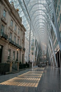 This joins up several downtown older stores and also contained a subway station. Toronto Ontario Canada, Toronto City, Niagara Falls Toronto, Sox Game, Toronto Neighbourhoods, Modern City, Beautiful Places In The World, Canada Travel, Cityscapes