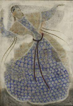 Dancer. Painting by Merab Abramishvili, Georgian artist
