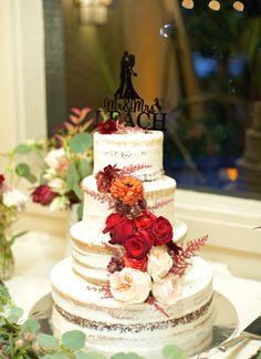 Naked cake Wedding Designs, Wedding Ideas, Wedding Centerpieces, Florals, Wedding Cakes, Pastel, Table Decorations, Scripts, Desserts