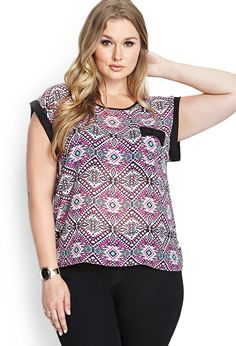 Abstract Geo Woven Top | FOREVER21 #F21Plus