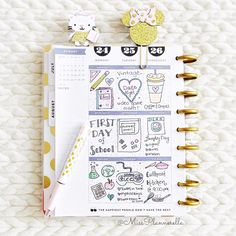 missplannerella: Day 19. Weekly Deco So excited for my little princess to start second grade on Monday so I got a jump start on planning out the week ✏️ #plannerdarlingspotd