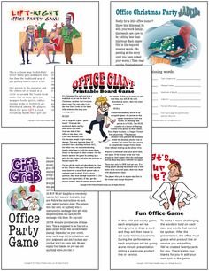 christmas work party ideas for your office holiday party find fun christmas printable games right left office games and gift exchange games