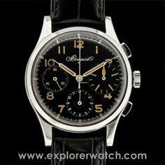 Breguet Rare Chronograph w/ Type XX Dial- Attestation Breguet