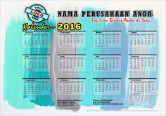 46 Desain Kalender 2016 Free Download Vector CDR PDF