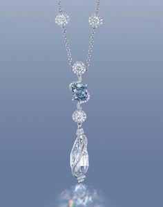 Internally flawless 12ct D colour briolette diamond pendent (estimate: US$1.6-2.3 million).