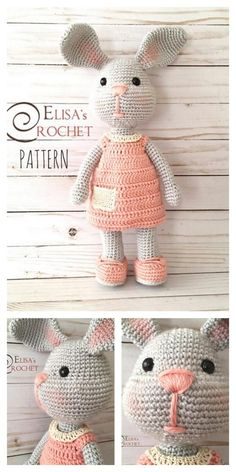 We have put together the best Amigurumi bunny weave patterns for you. All of the beautiful toy knitted rabbit models, amigurumi crochet bunny free pattern. Crochet Bunny Pattern, Crochet Animal Patterns, Stuffed Animal Patterns, Free Crochet, Crochet Animal Amigurumi, Amigurumi Doll, Amigurumi Patterns, Crochet Dolls, Easter Crochet