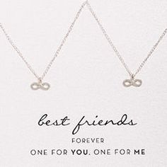 Best Friends One for You One for Me Infinity Necklace