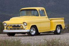 Jim Makerov's 1957 Chevrolet pickup started off stock, but he and his son Mike were quick to fix that with a good old fashioned father/son car project! Chevy Pickup Trucks, New Trucks, Cool Trucks, Pickup Camper, Custom Trucks, Chevrolet 1957, Chevrolet Trucks, Chevrolet Corvette, Best Pickup Truck