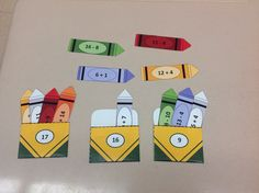 This is a fun center for adding and subtracting to 20!