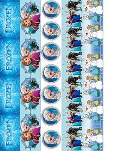 FROZEN Elsa Anna Paper Chain Strips Party Games by TahDahStudio