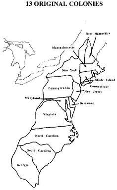 13 colonies map  Original13coloniesblankmap  Social Studies