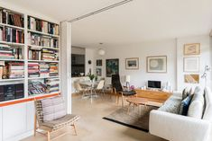 On the market: Chamberlin, Powell & Bon-designed apartment in Defoe House on the Barbican Estate, London Living Area, Living Spaces, Living Room, Partition Door, Rural Retreats, Barbican, Two Bedroom Apartments, Reception Rooms, Next At Home
